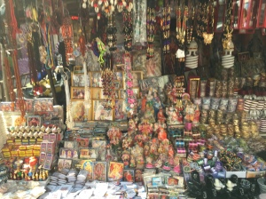 Lots of items for sale related to Kali.  We bought a few for good luck.