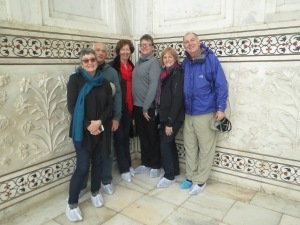 Catherine, David, Marianne, Bill, Leslie and Terry--about to enter the tomb.