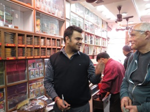 Fellow on the left had us sample all the spices--great sales experience.