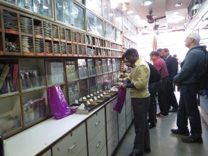 In the spice store.