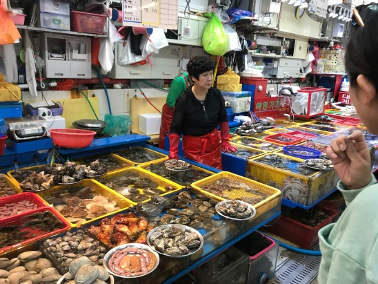 Busan Fish Market, daunting selection