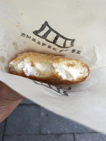 Fried croquette with sweet cream cheese
